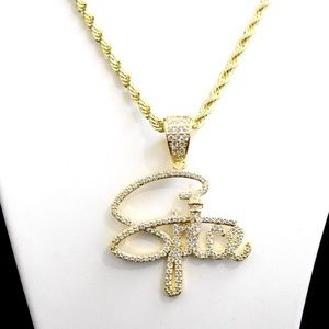 Other - Yellow Gold Finish Lab Diamond SPICE Charm Chain